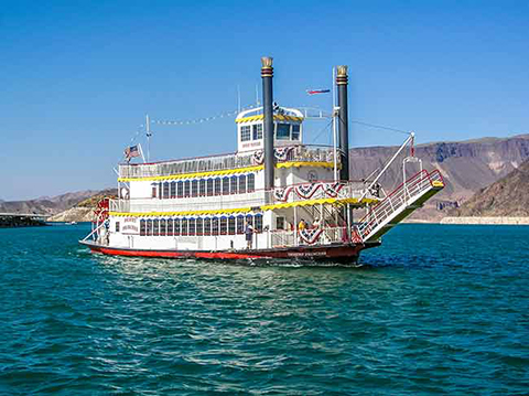 Desert Princess at the docks on Lake Mead